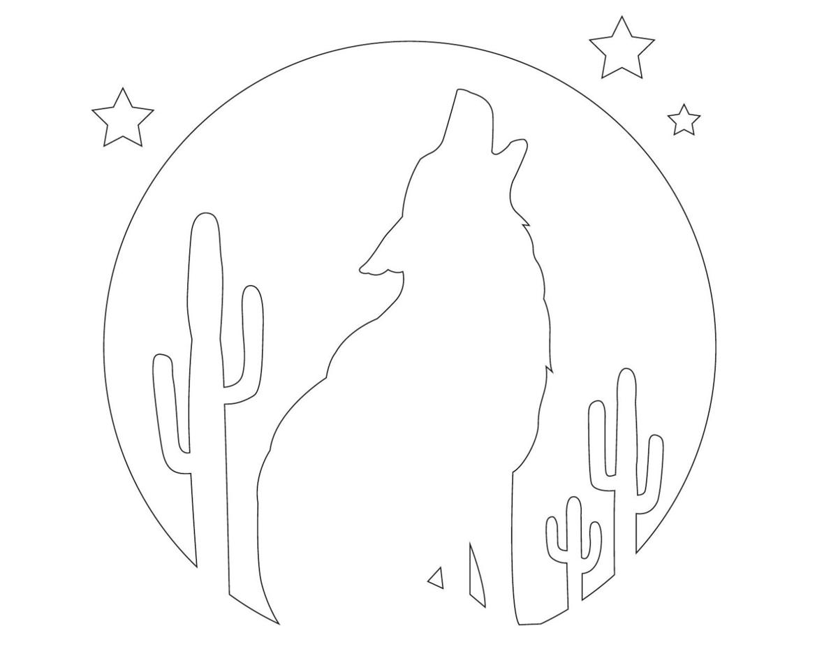 Stencil: Howling Coyote