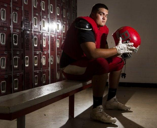 Bisbee High School football player Jason Linden