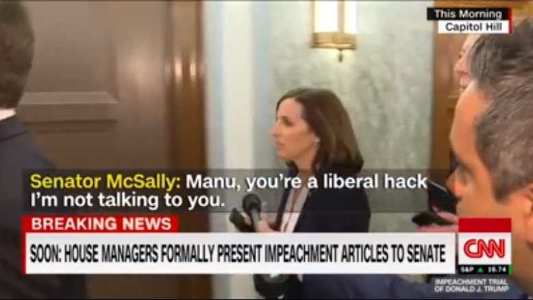 McSally calls CNN reporter 'liberal hack' after impeachment question