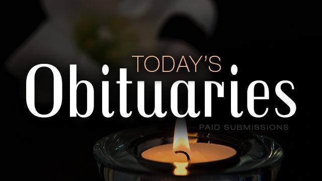 In memoriam: Funeral notices, October 22, 2019