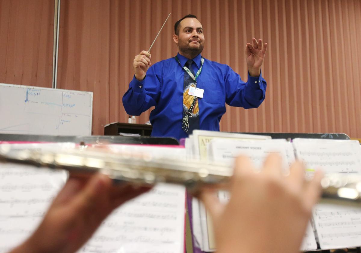 Band teacher Phillip Switzer