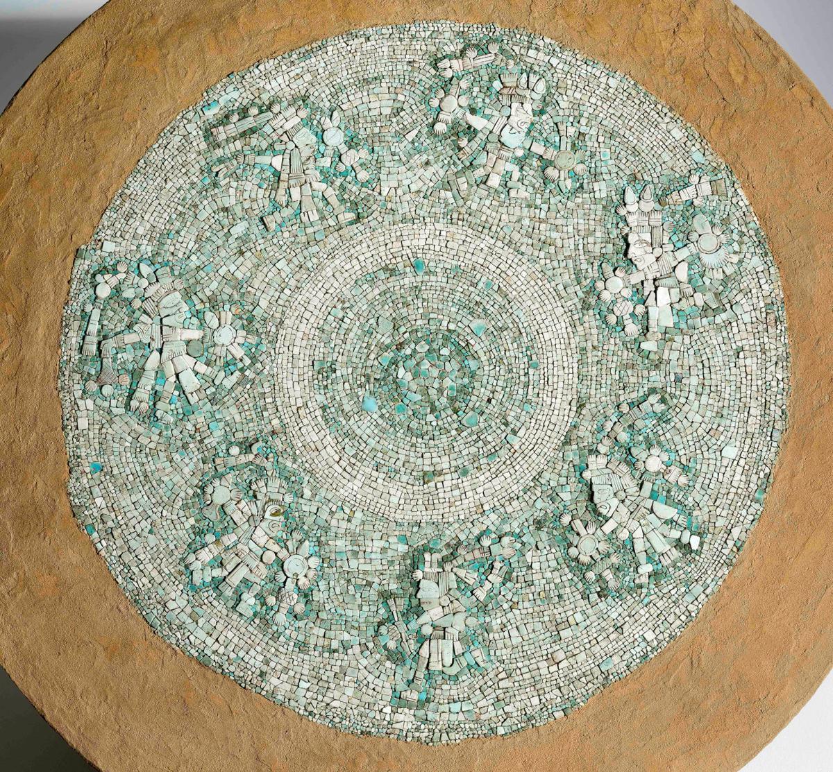 Turquoise mosaic tiles