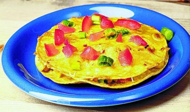 Substitute flour tortillas with corn to cut calories