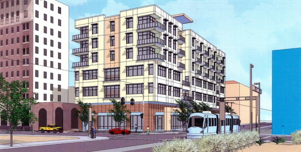 Mixed-use high-rise planned downtown