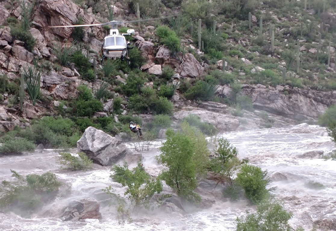 Tanque Verde Falls rescue