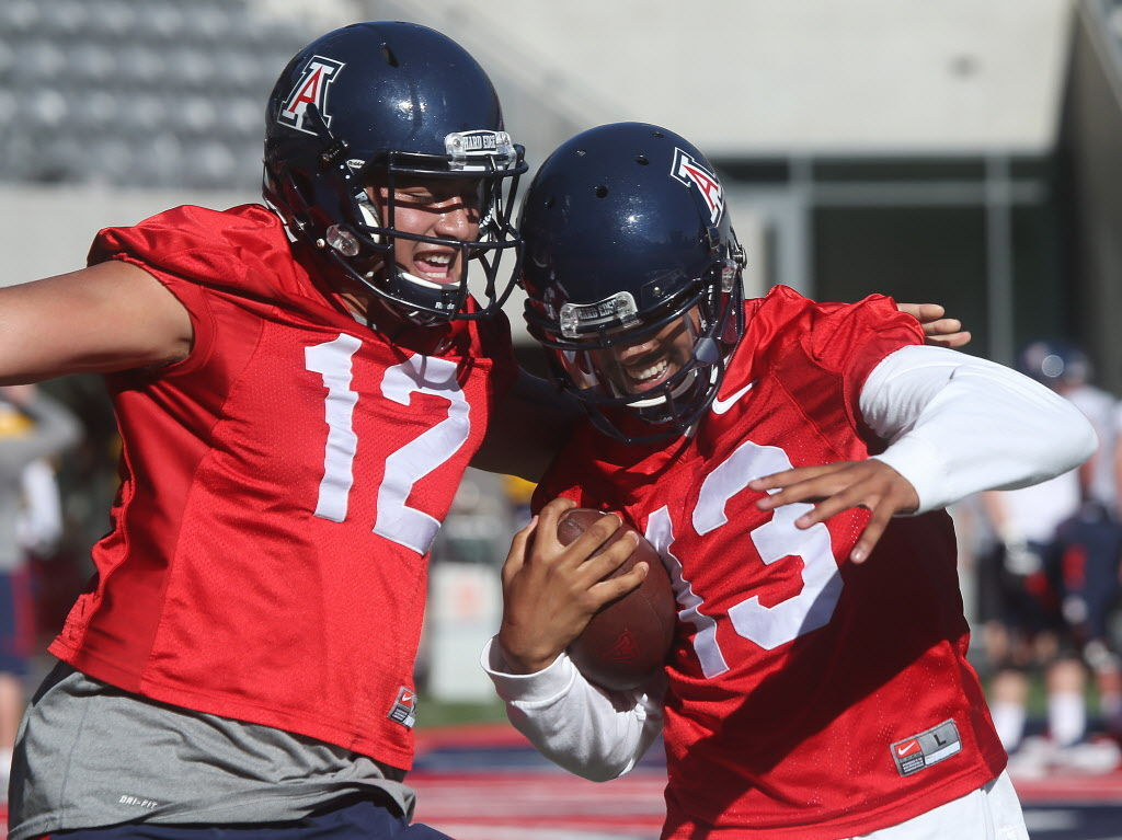 Arizona football: Cam Denson getting up to speed at wide receiver ...