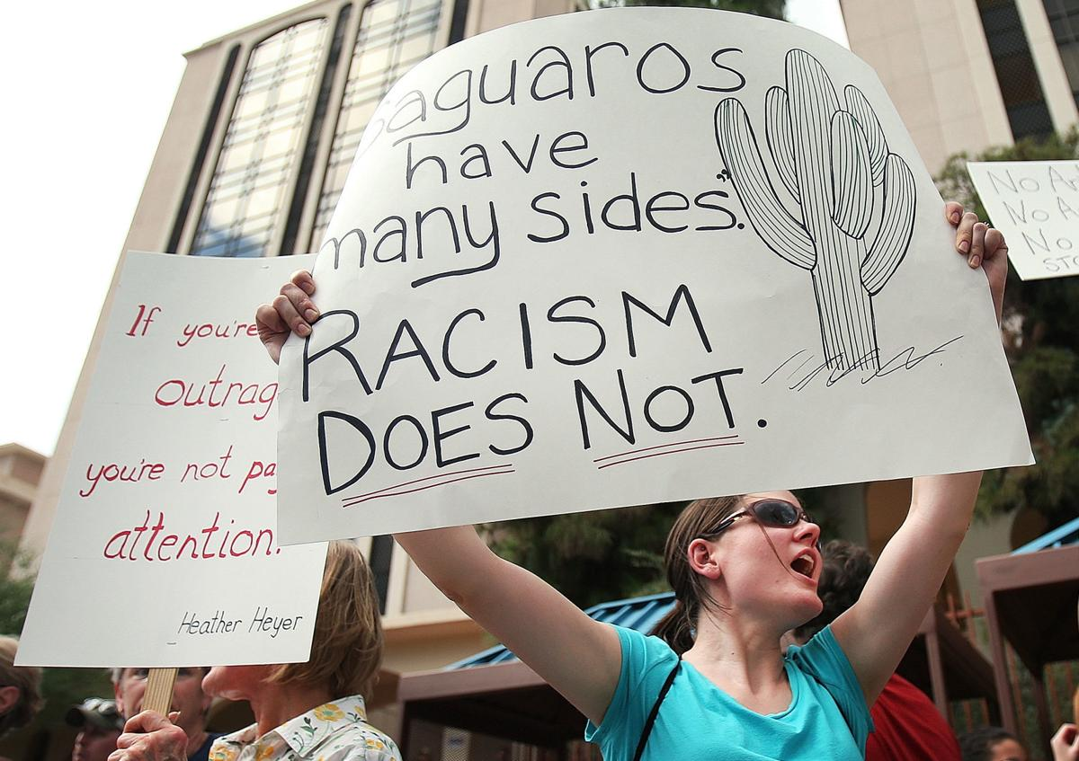Protest in Tucson against President Donald Trump