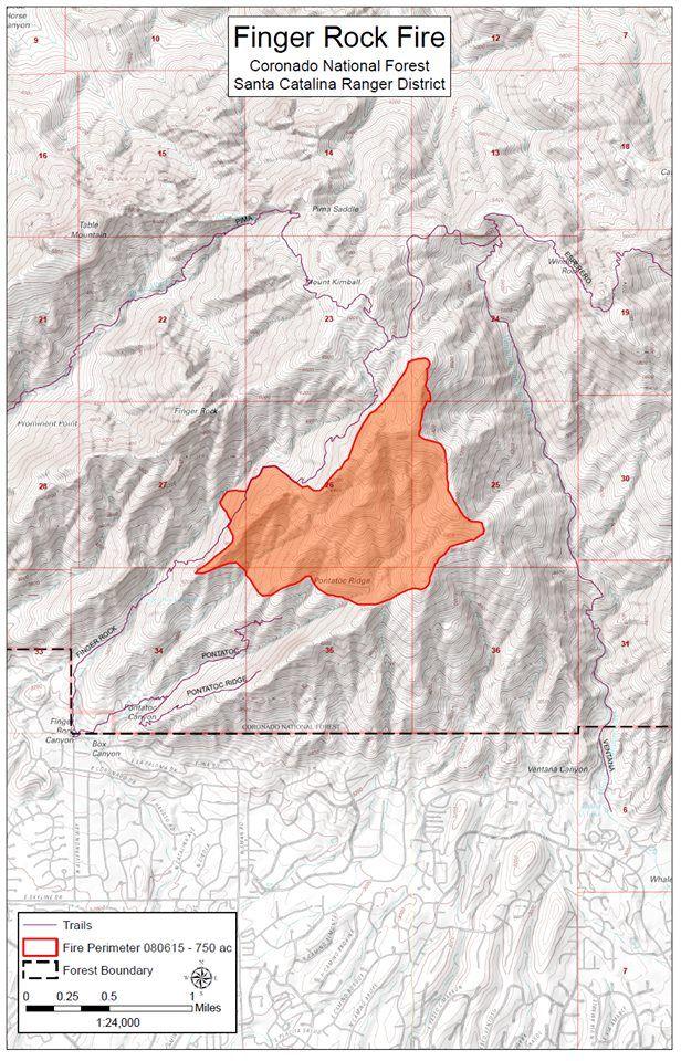 Finger Rock Fire boundaries