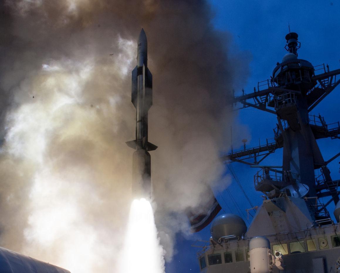 Raytheon ship-defense missile passes key test