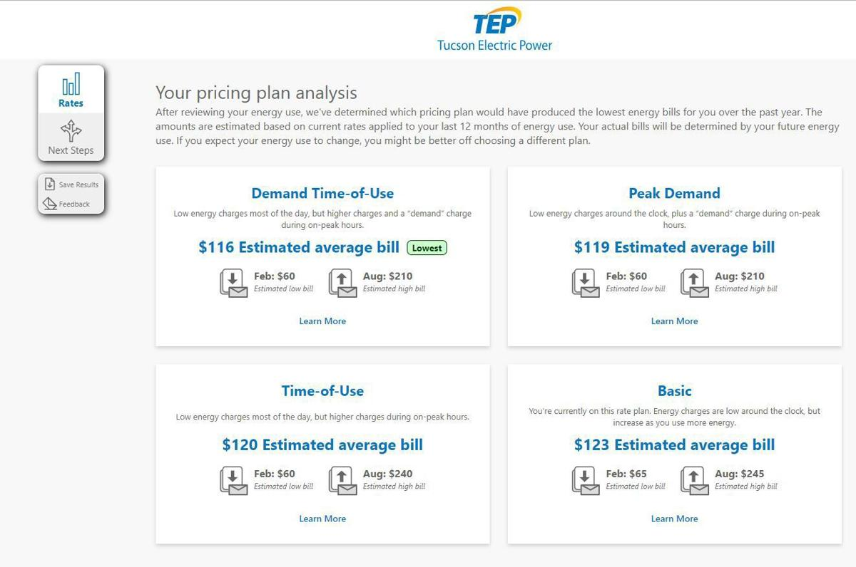 New online tool helps Tucson Electric customers pick the right rate plan
