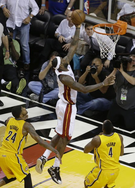 NBA Playoffs: Heat 103, Pacers 102, OT: LeBron connects on one final play