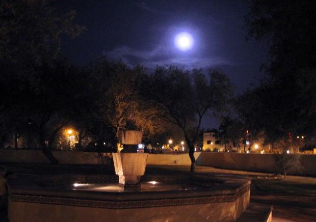 Plan contemplative walk of labyrinth under moon