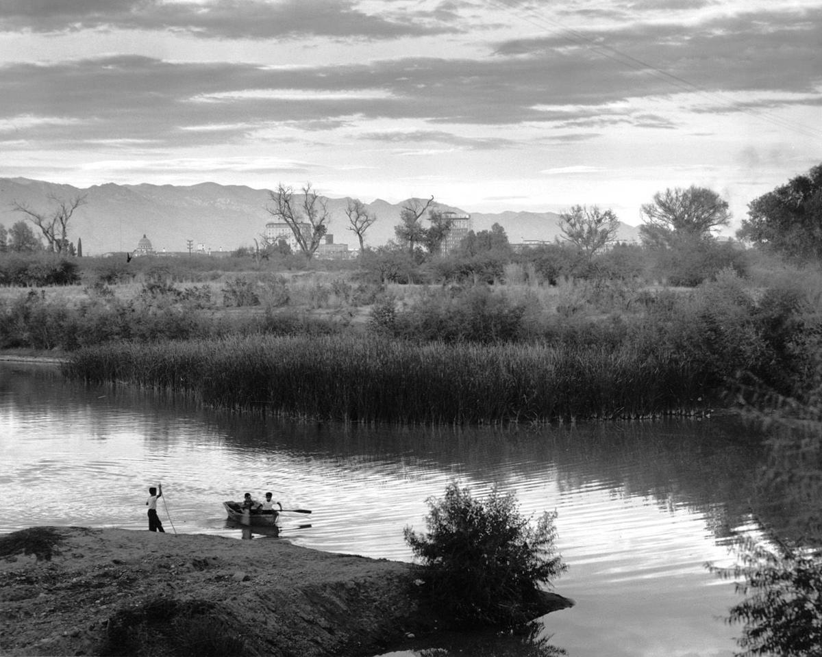 Santa Cruz River in 1954