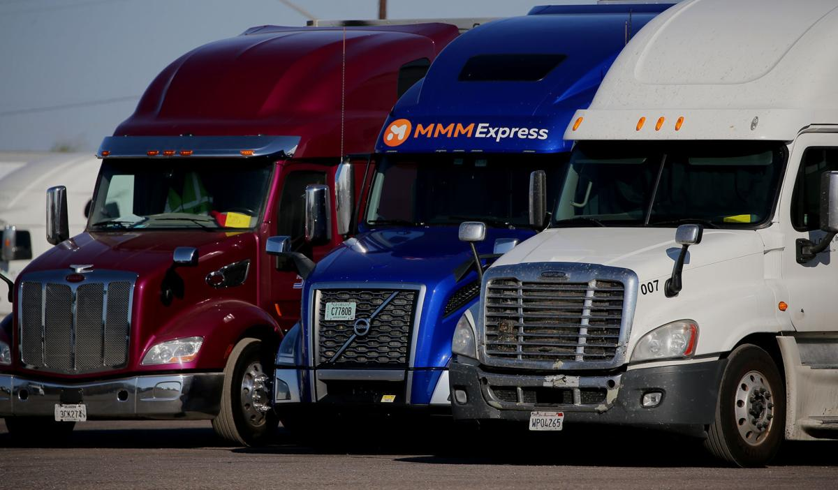 Long-haul truckers, semi tractor-trailers