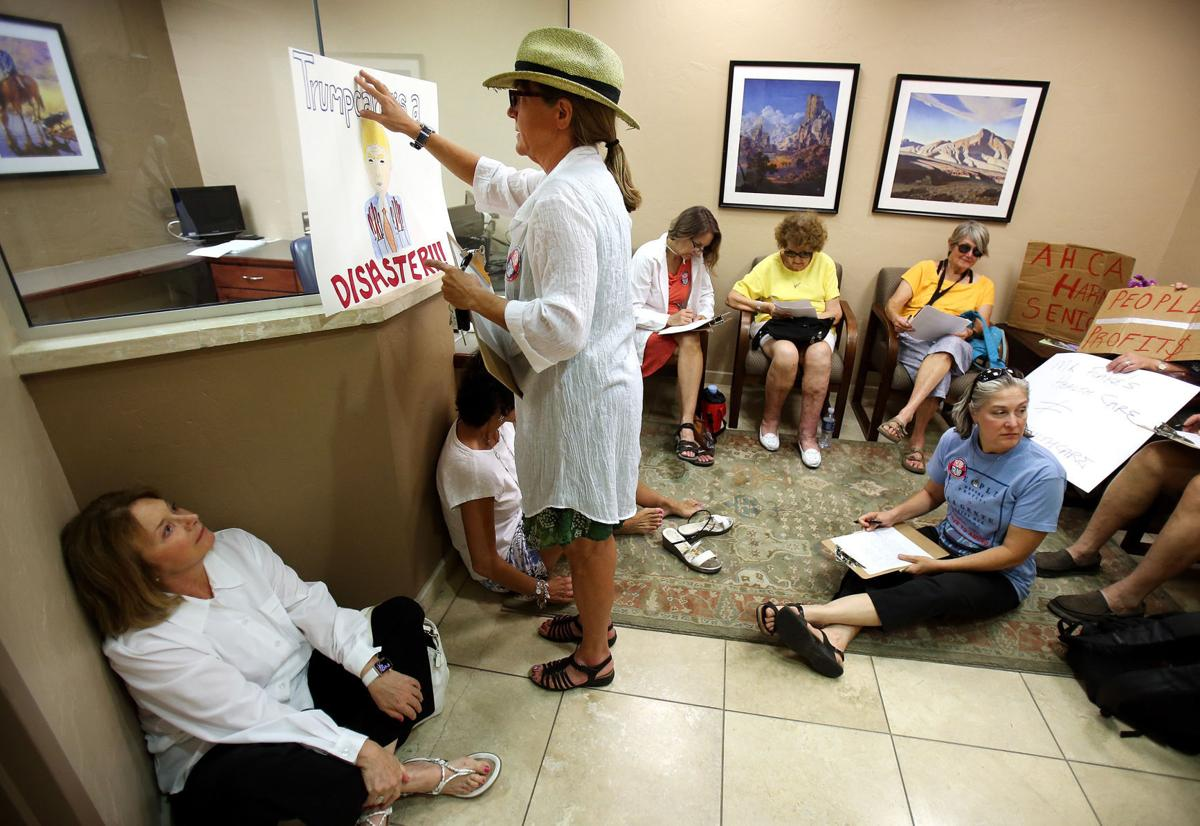 Sit-in at Senator Jeff Flake's office