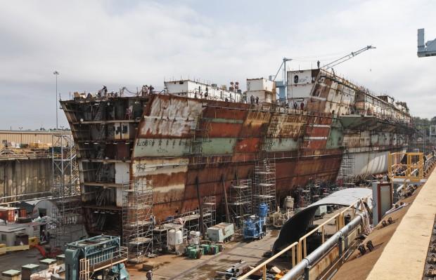 Construction Of An Aircraft Carrier