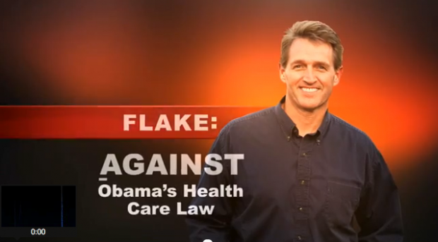 Flake's new TV ad highlights his opposition to 'Obamacare'