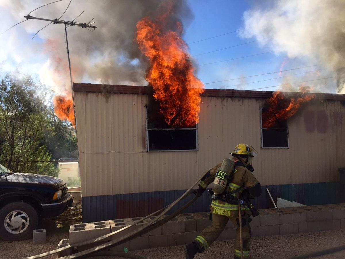 Fire Destroys Mobile Home On Tucson S South Side Local