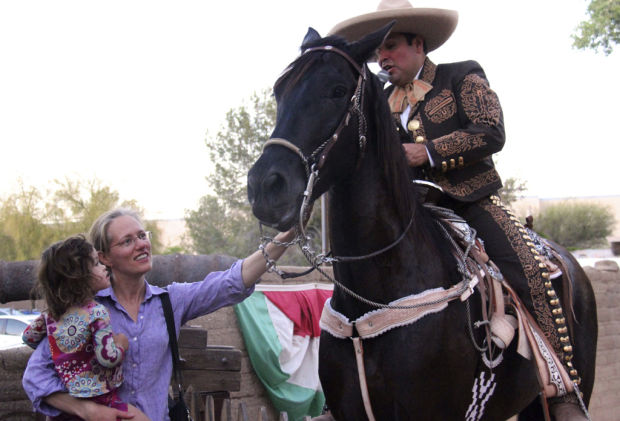 Charros, horses in tune