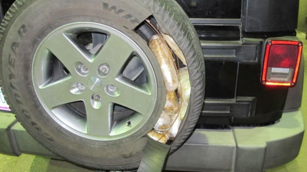 Border officers find meth hidden in Jeep tires at San Luis crossing