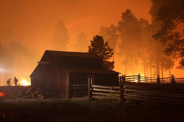Yarnell hotshots helped save NM preserve's headquarters