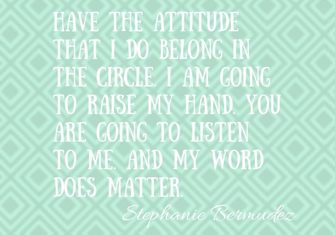 Stephanie Bermudez quote