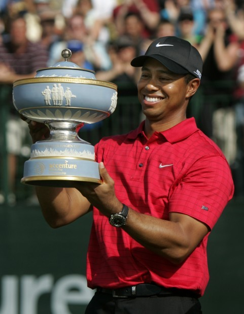 Feb. 24, 2008: Tiger Woods wins Accenture Match Play Championship