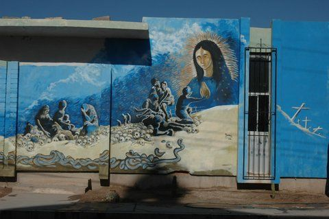 A gallery of Guadalupe murals