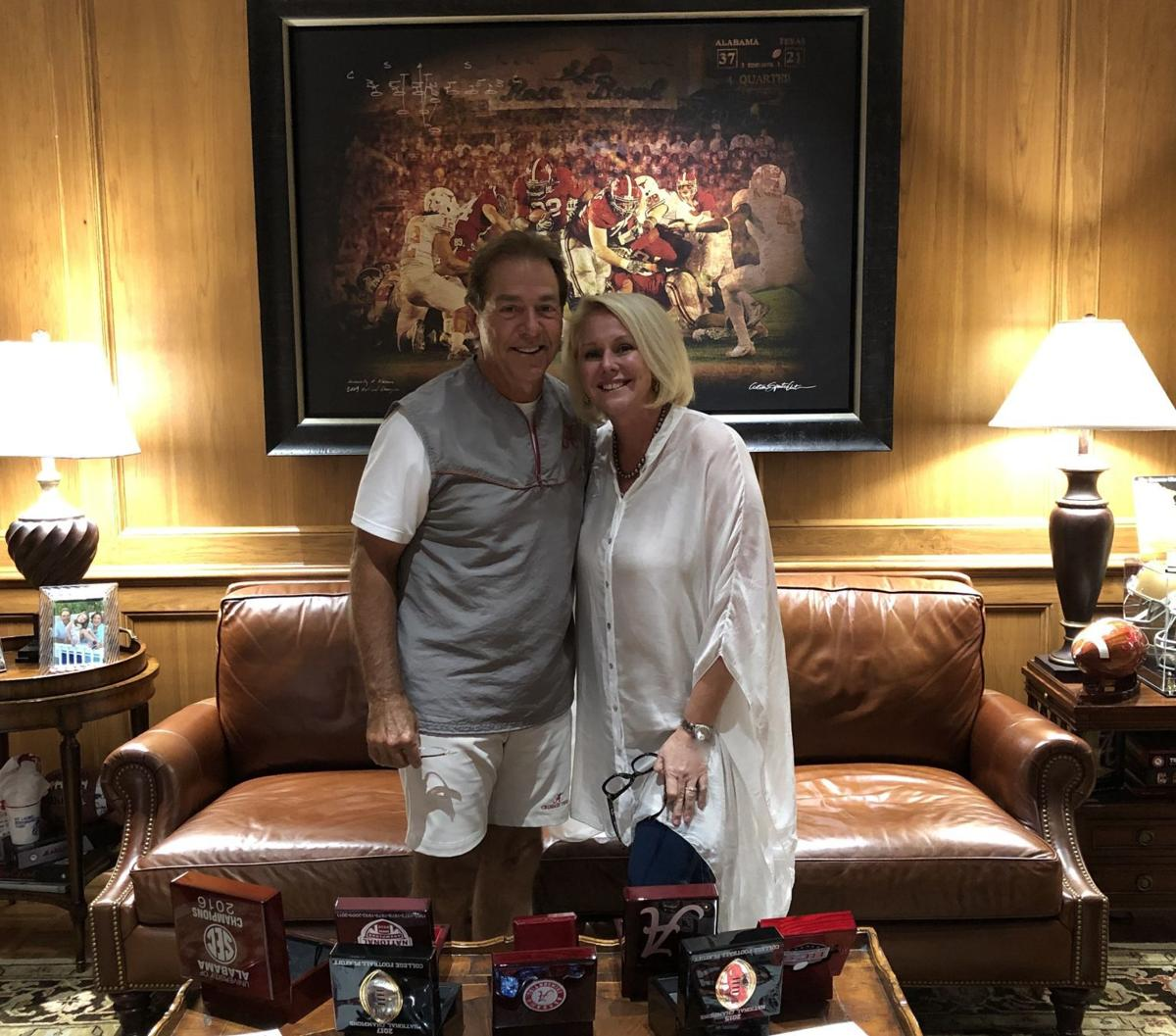 Nick Saban and Carrie Cecil
