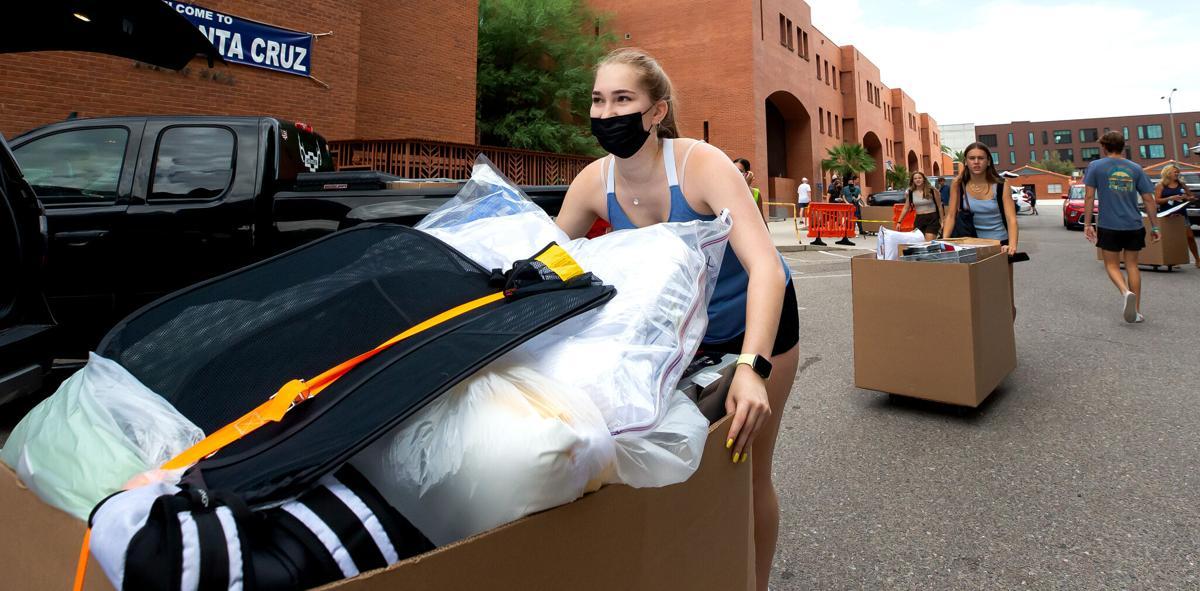 University of Arizona dorm move-in