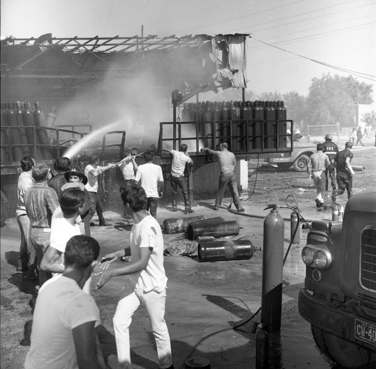 Explosions at Dye Oxygen Co. in 1965