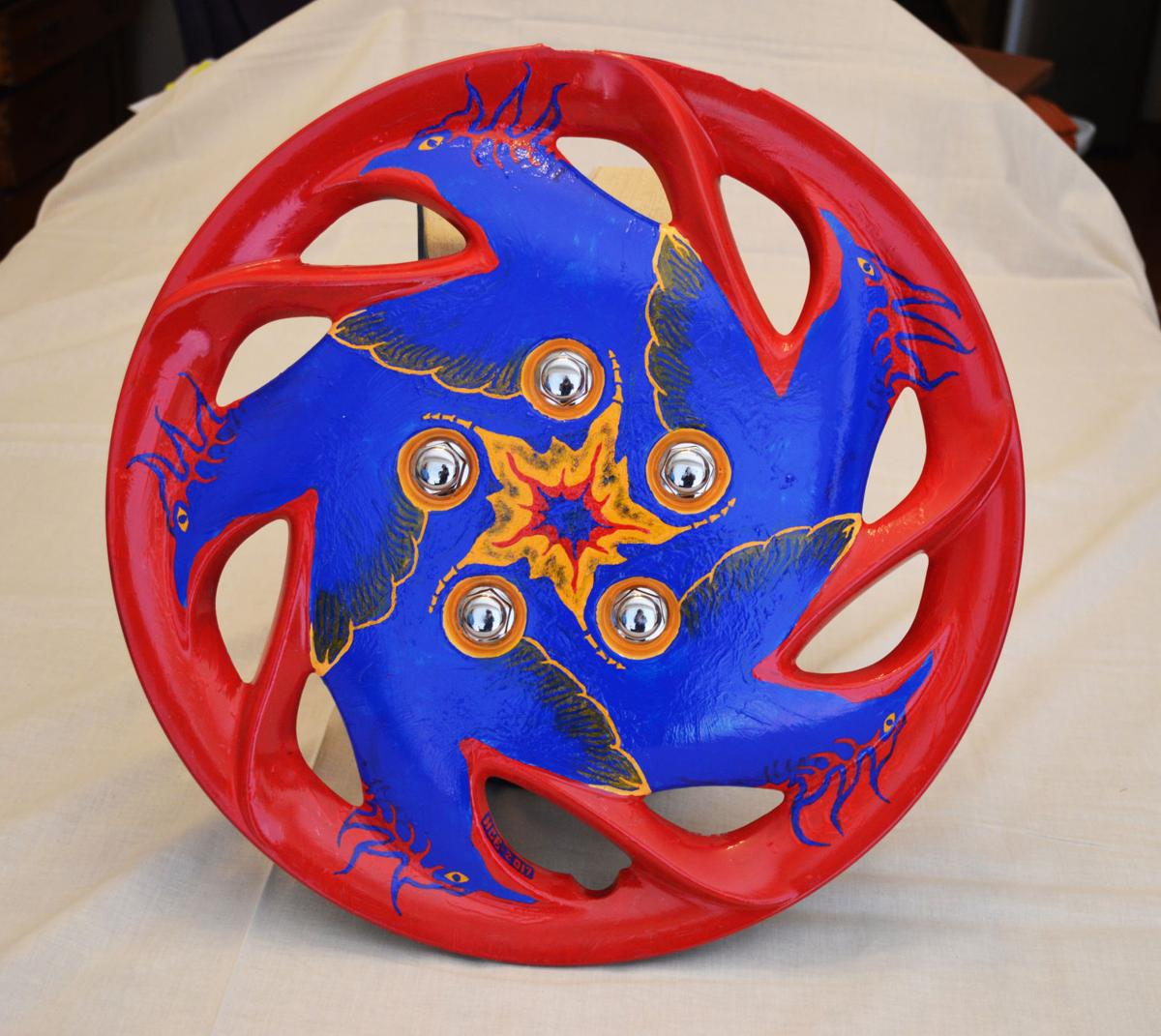 The zen of hubcap painting