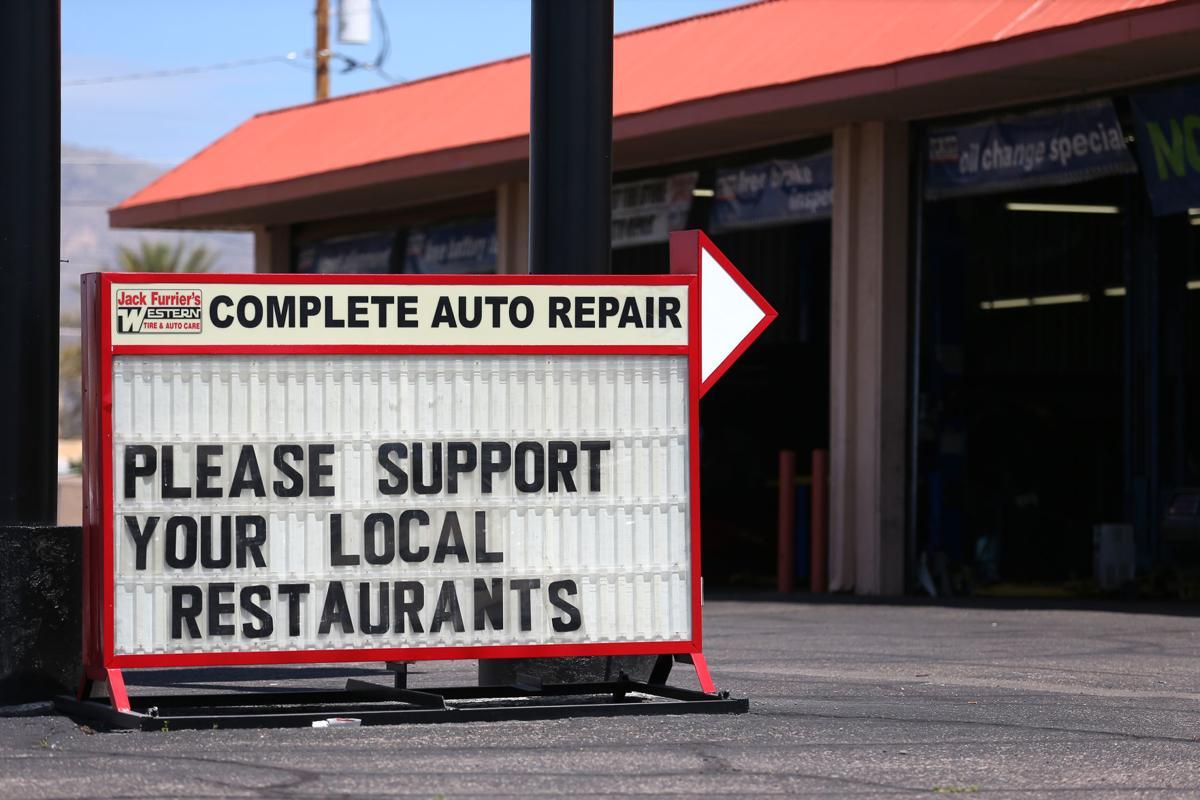 Auto repair, signs, coronavirus