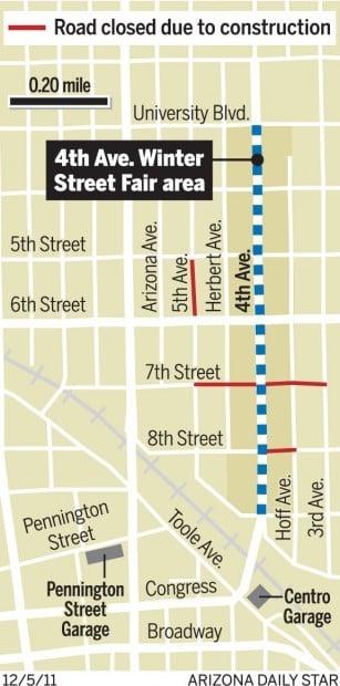 Map: Winter street fair area