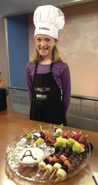 Fifth-grader's 'Dippin' Kabobs' bear fruit, win Blue Cross contest