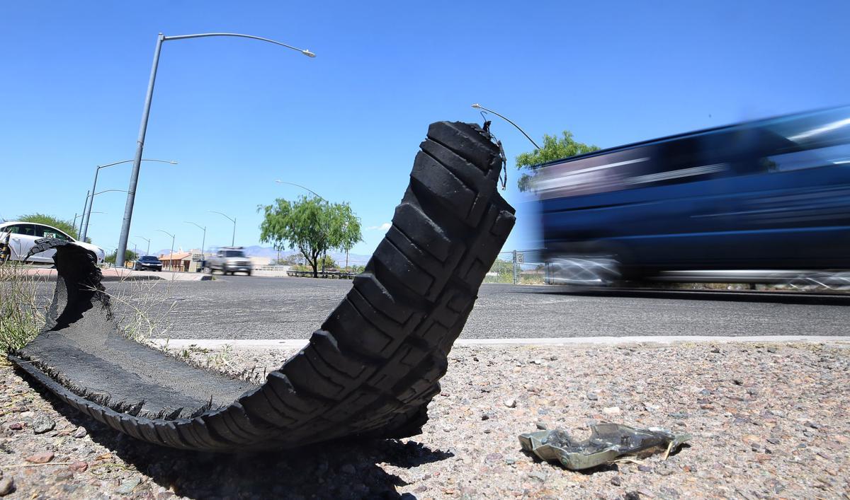 Vehicle debris on Tucson streets