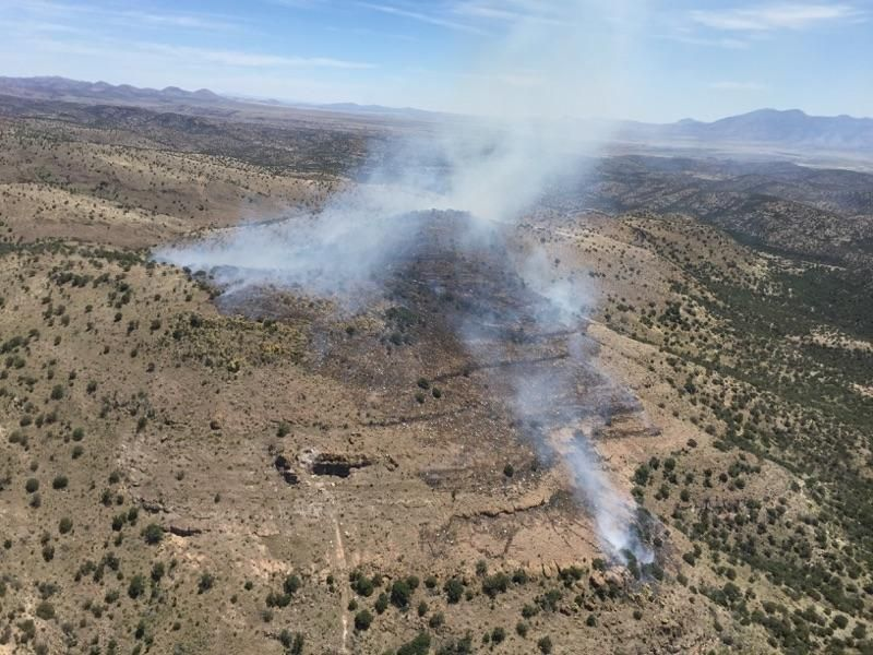 2 wildfires reported in southern arizona wildfire