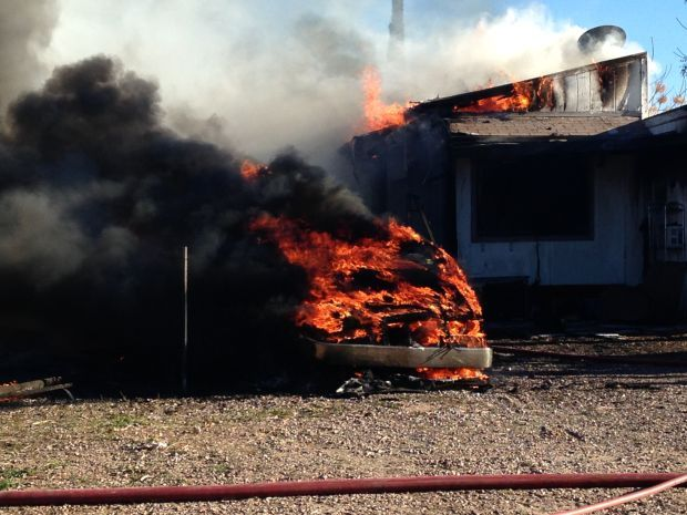 3 Tucson mobile homes, 1 RV catch fire on north side