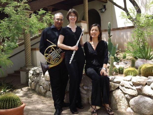 Victor Valenzuela, horn, Deena Reedy, flute, Ji Sun Lee, piano.