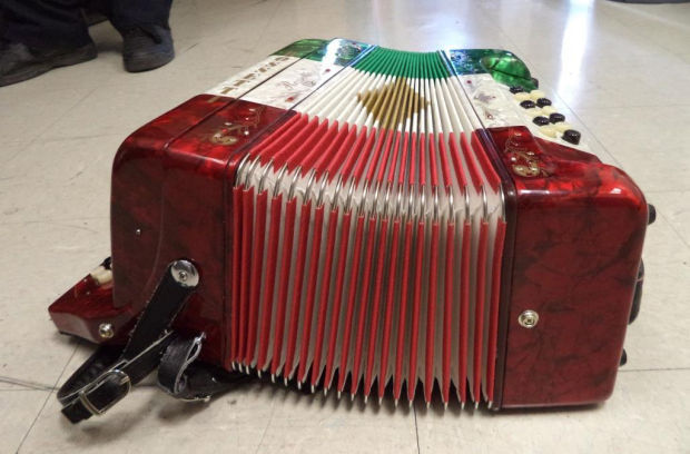 Border officers find meth stashed in squeezebox