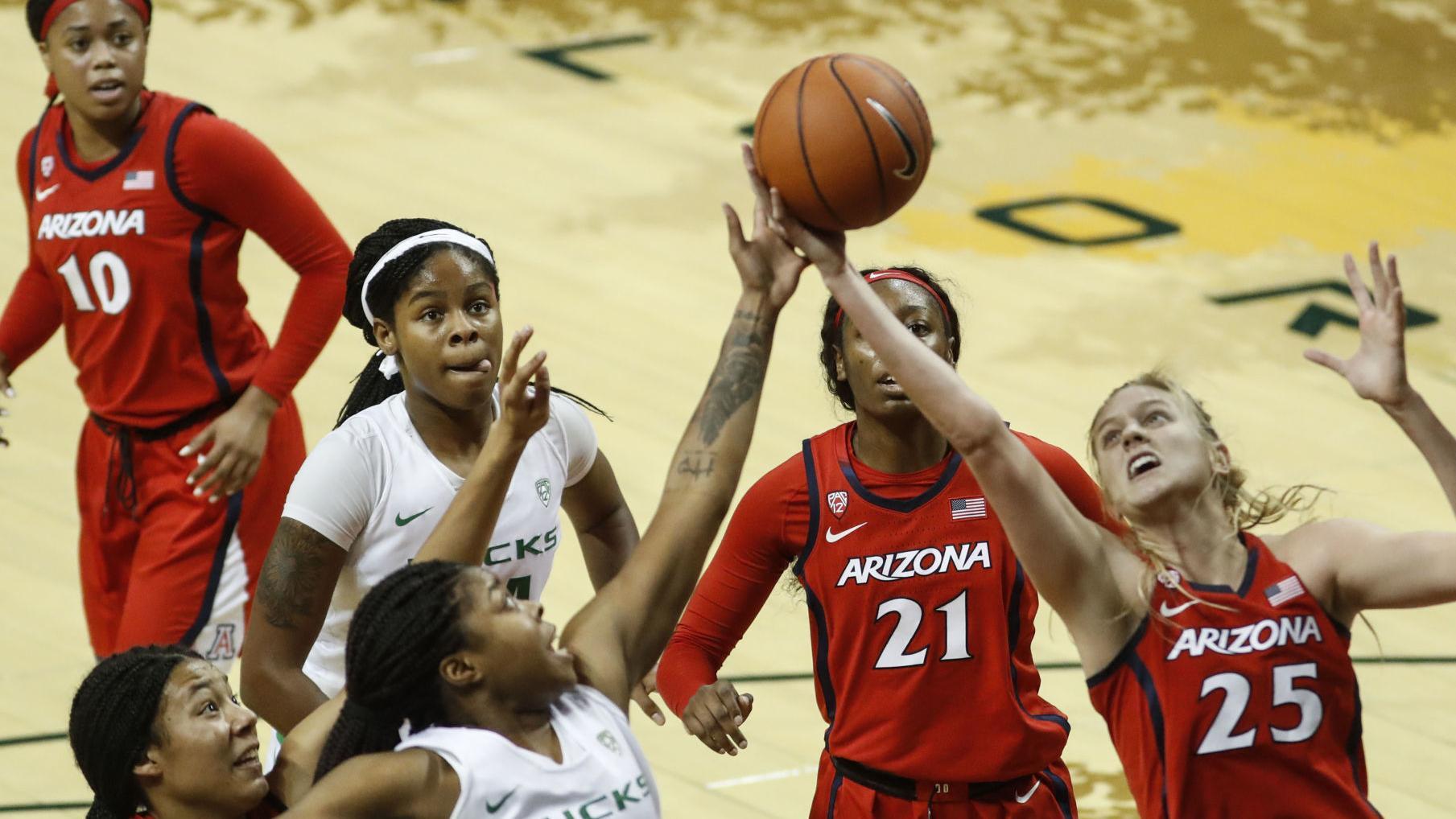 Oregon Ducks swarm Arizona women early, cruise to 33-point win