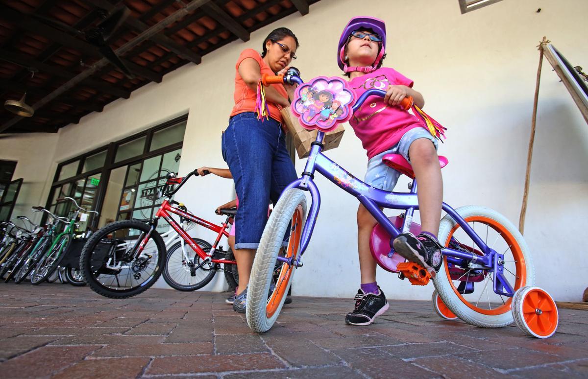 Bicycle Easter egg hunt