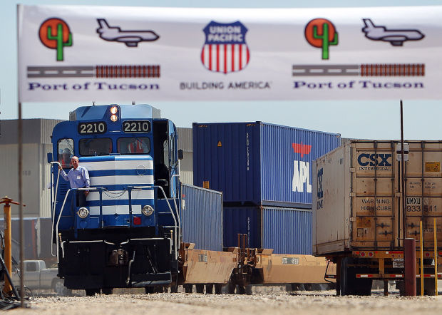 Port here now servicing international rail cargo