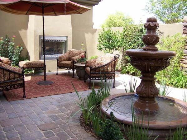 Water Fountain In Backyard epoxy sealer may help leaky backyard fountain | entertainment