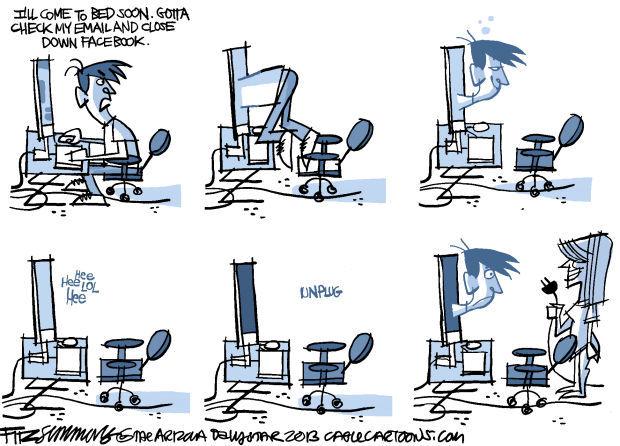 Daily Fitz Cartoon: Net loss