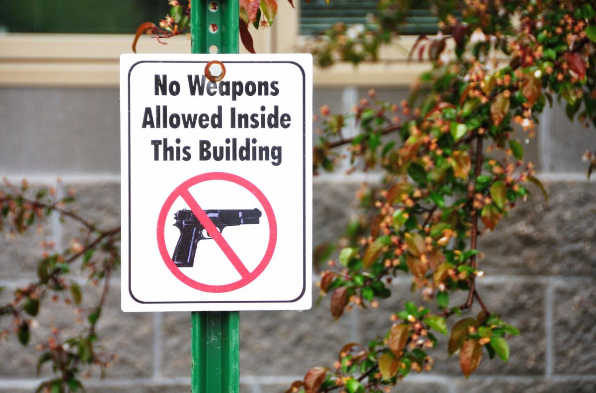 'No weapons allowed'