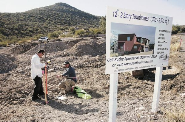 New homes start near 'A' Mountain