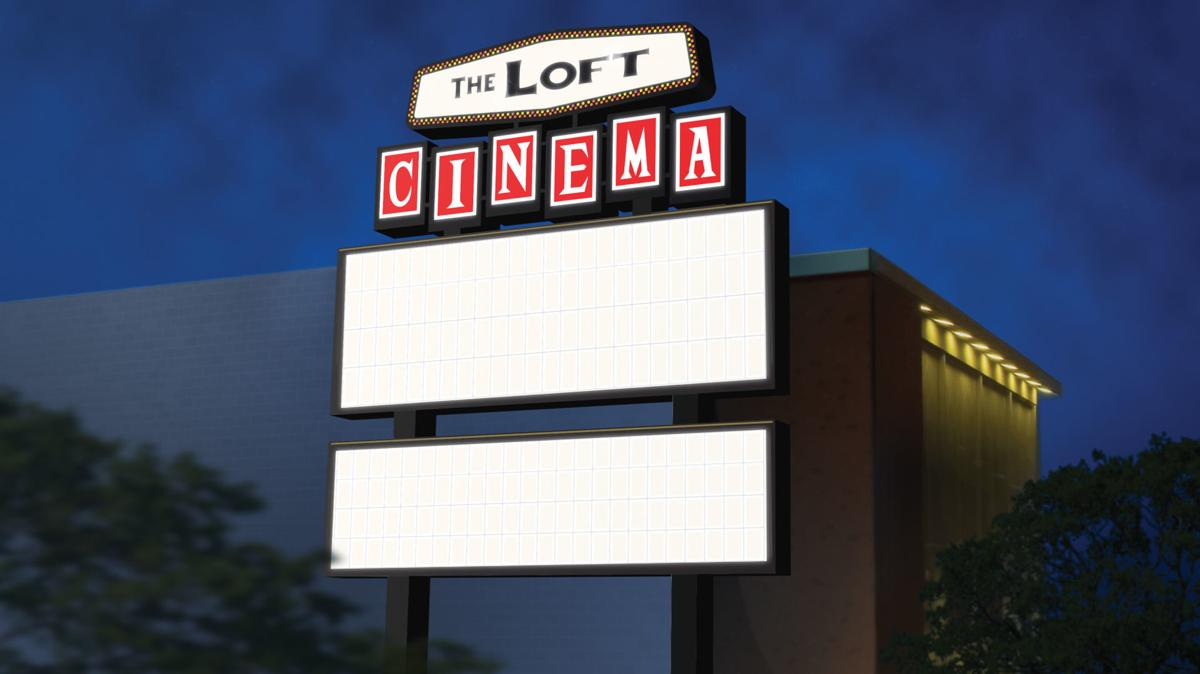 Sign of the times: The Loft marquee will soon double in size