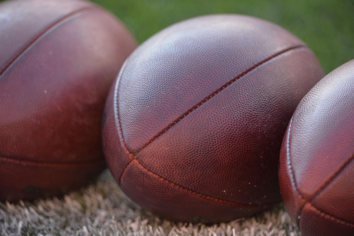 Footballs stock image