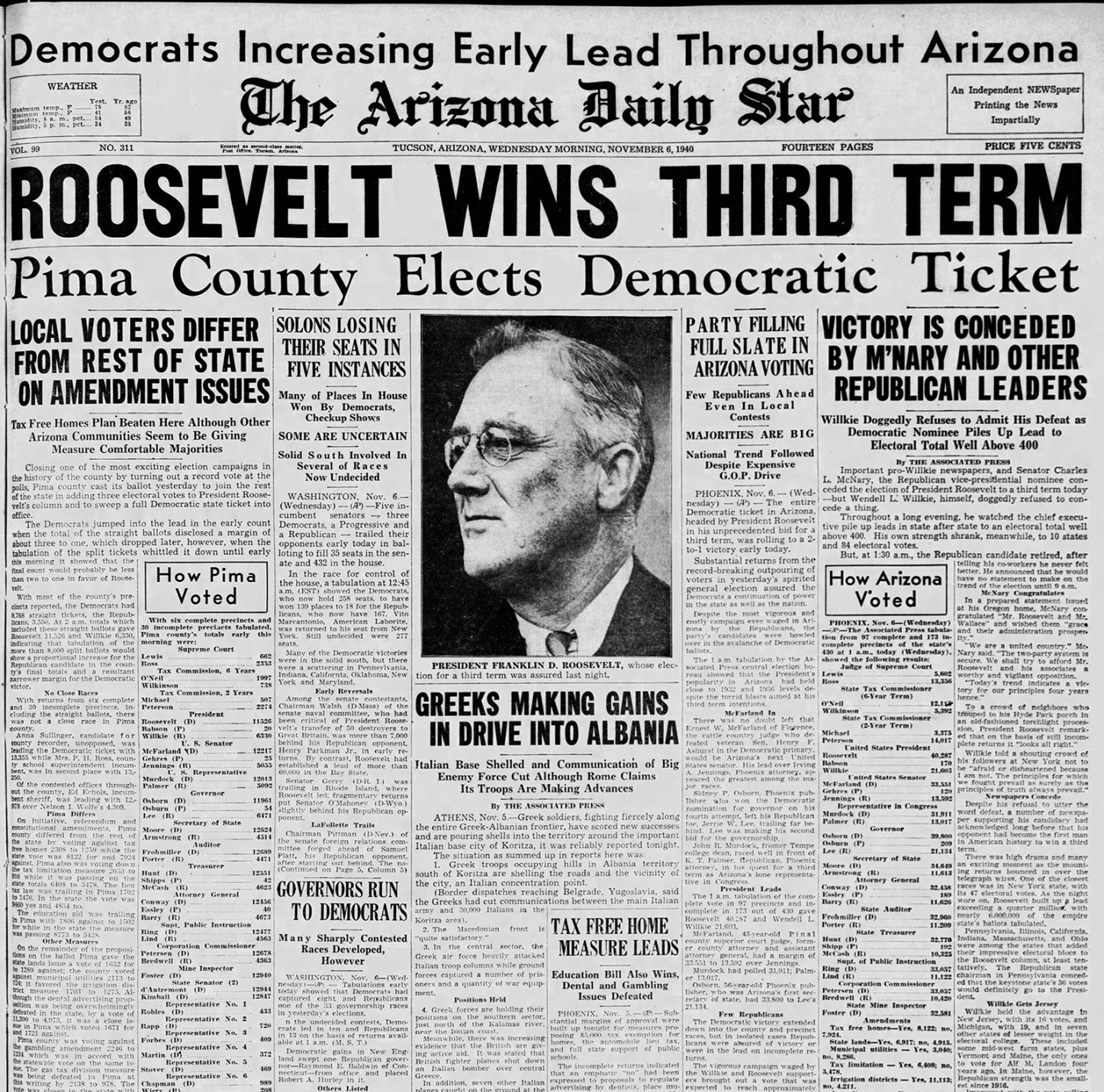 Image result for FDR headlines
